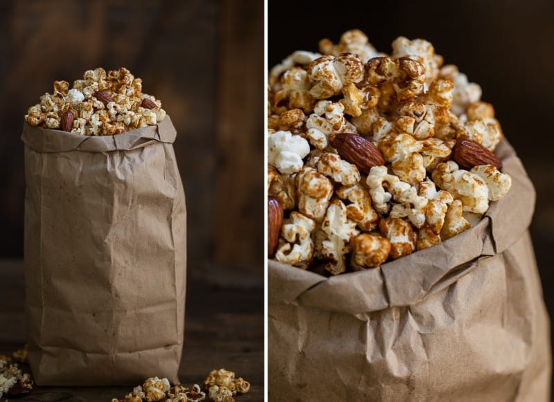 honey almond popcorn