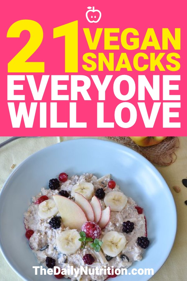 We all have a snack craving from time to time. Whether it's for something sweet or something savory, we all get that craving. Here are 21 vegan snacks that everyone is going to enjoy.