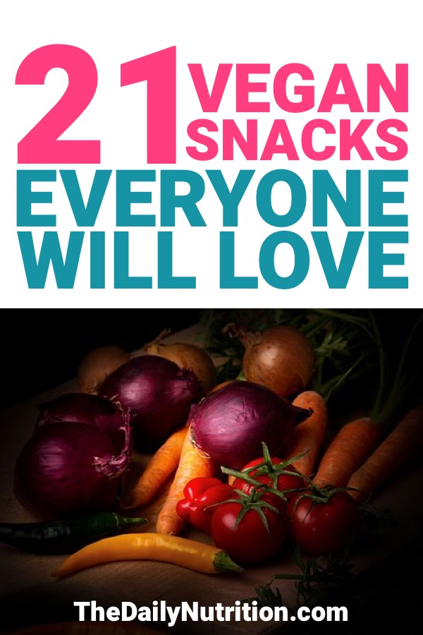 Sometimes we want a sweet snack, sometimes we want a snack that is savory. Here are 21 vegan snack ideas that are good for any occasion.