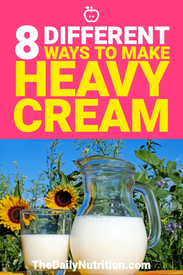 Homemade ingredients and foods are sometimes the best. When it comes to heavy cream, there are so many ways to make it. Here are 8 different ways on how to make heavy cream.