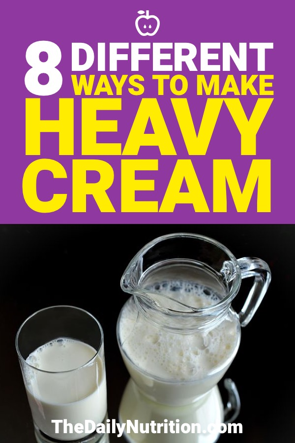 If you're in your kitchen and don't have heavy cream around, no need to panic. Here are 8 different ways on how to make heavy cream.