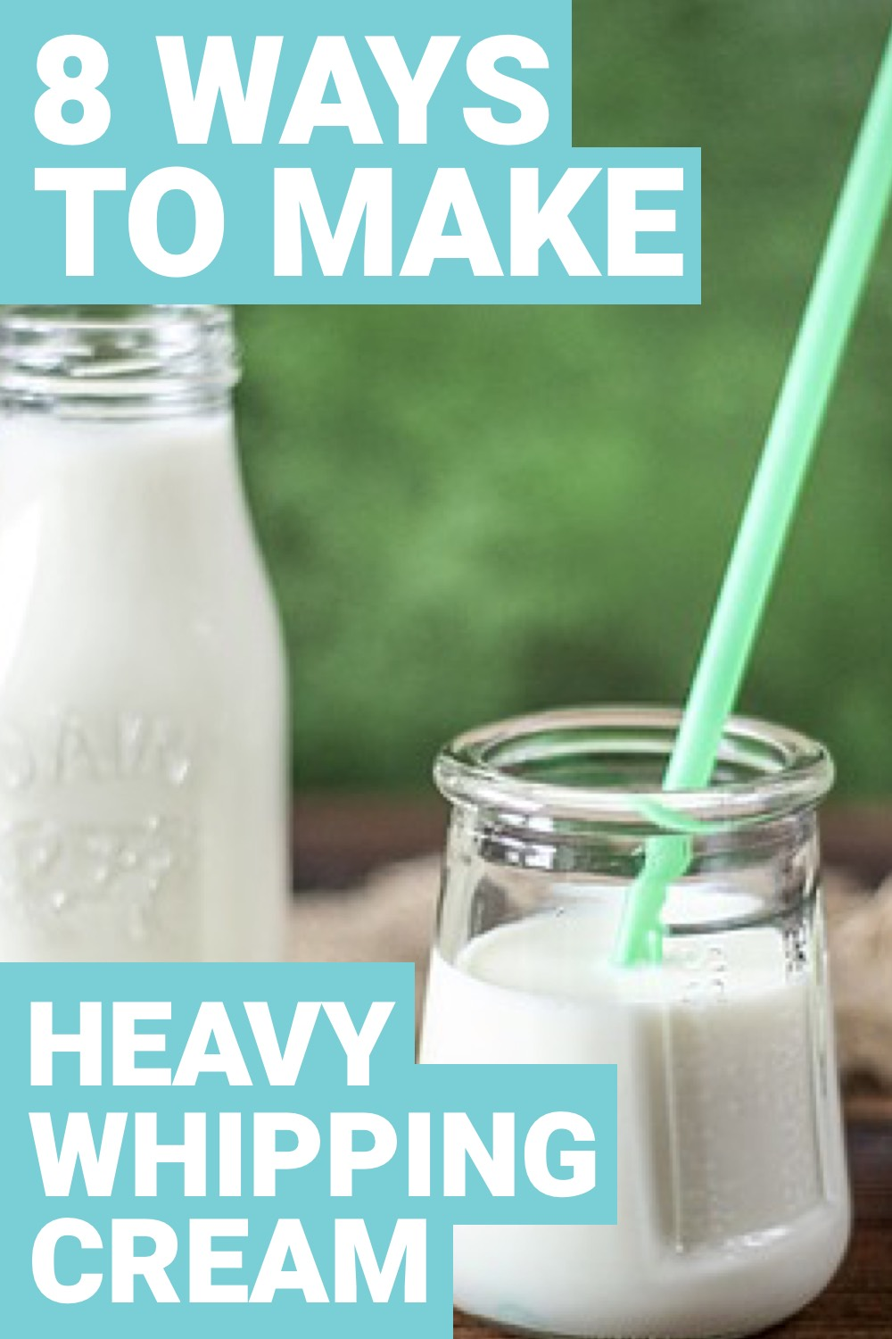 Heavy cream is a key ingredient in a lot of recipes. However, we may not always have heavy cream present. Here are 8 different ways to make heavy cream.