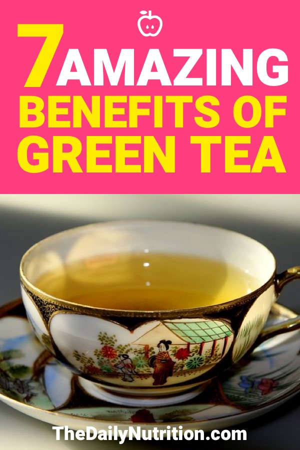 When you're drinking green tea, you're increasing your health significantly. Here are 7 health benefits of green tea.