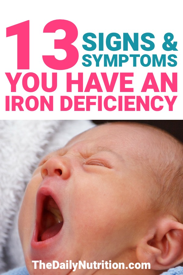 Here are 13 symptoms of iron deficiency that you need to know. They will tell you if you're iron deficient or not.