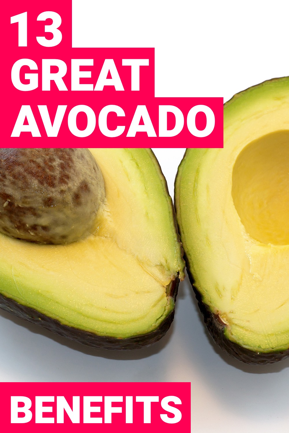 The health benefits of avocados shouldn't be overlooked. It's a superfood for a reason. Here are 13 health benefits of avocados.