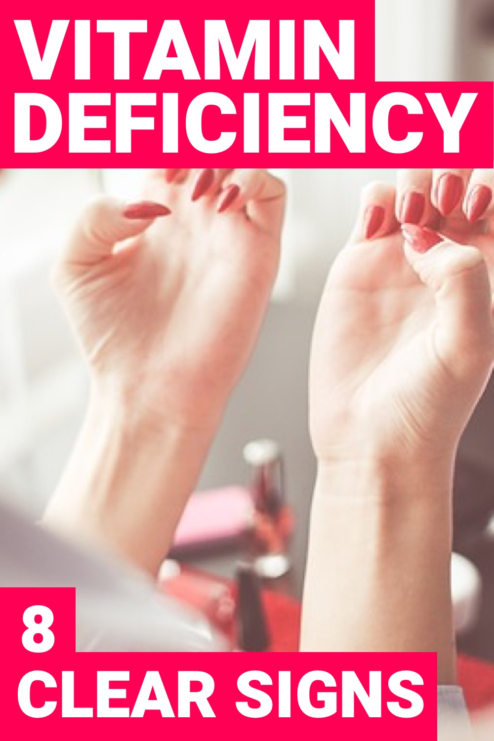When you have a vitamin deficiency, your body is going to let you know. Here you'll find out the symptoms of having a vitamin deficiency.