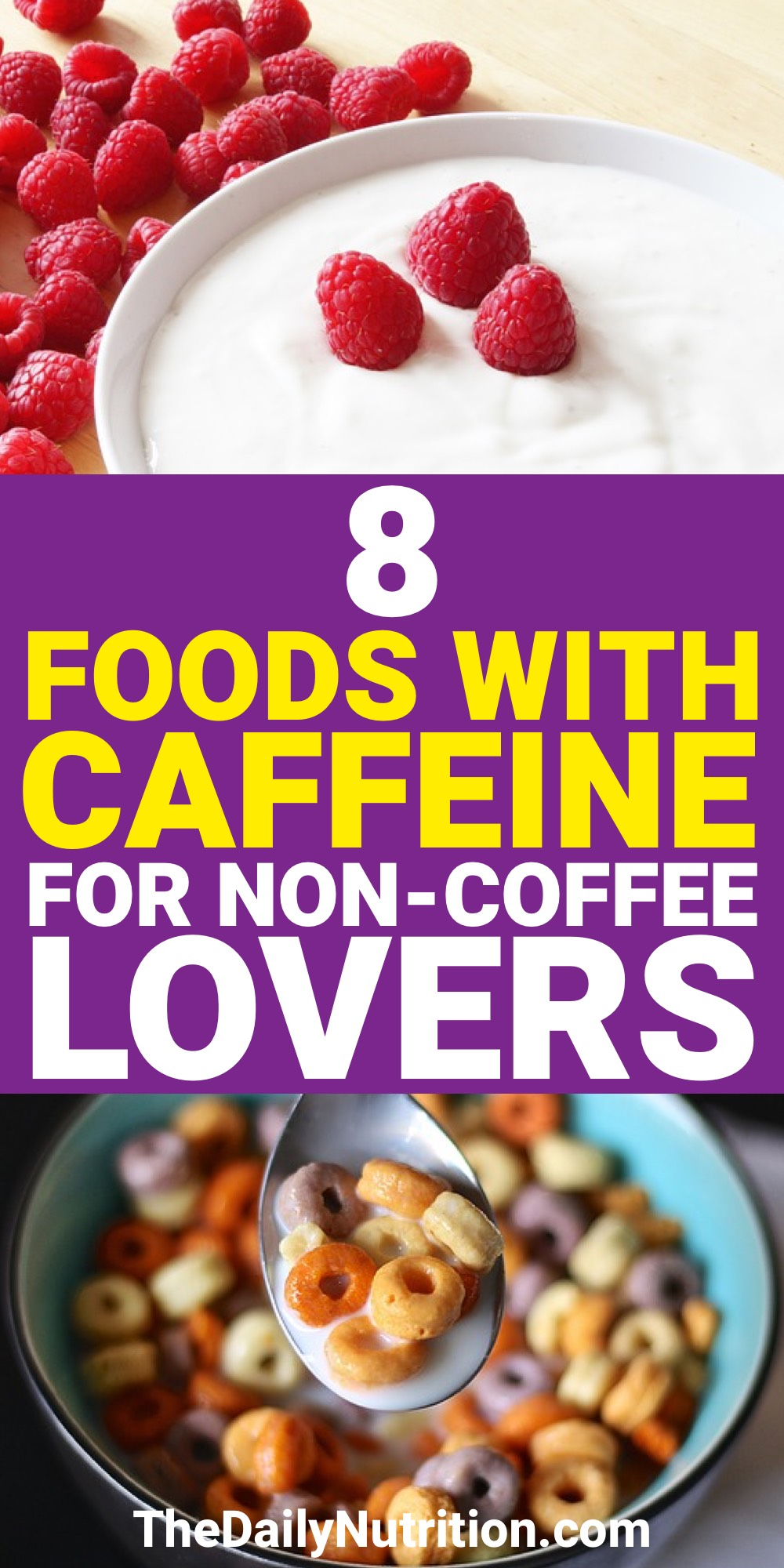 Caffeine is something that people need to get through their day. Here are foods that have caffeine for when you don't want coffee.