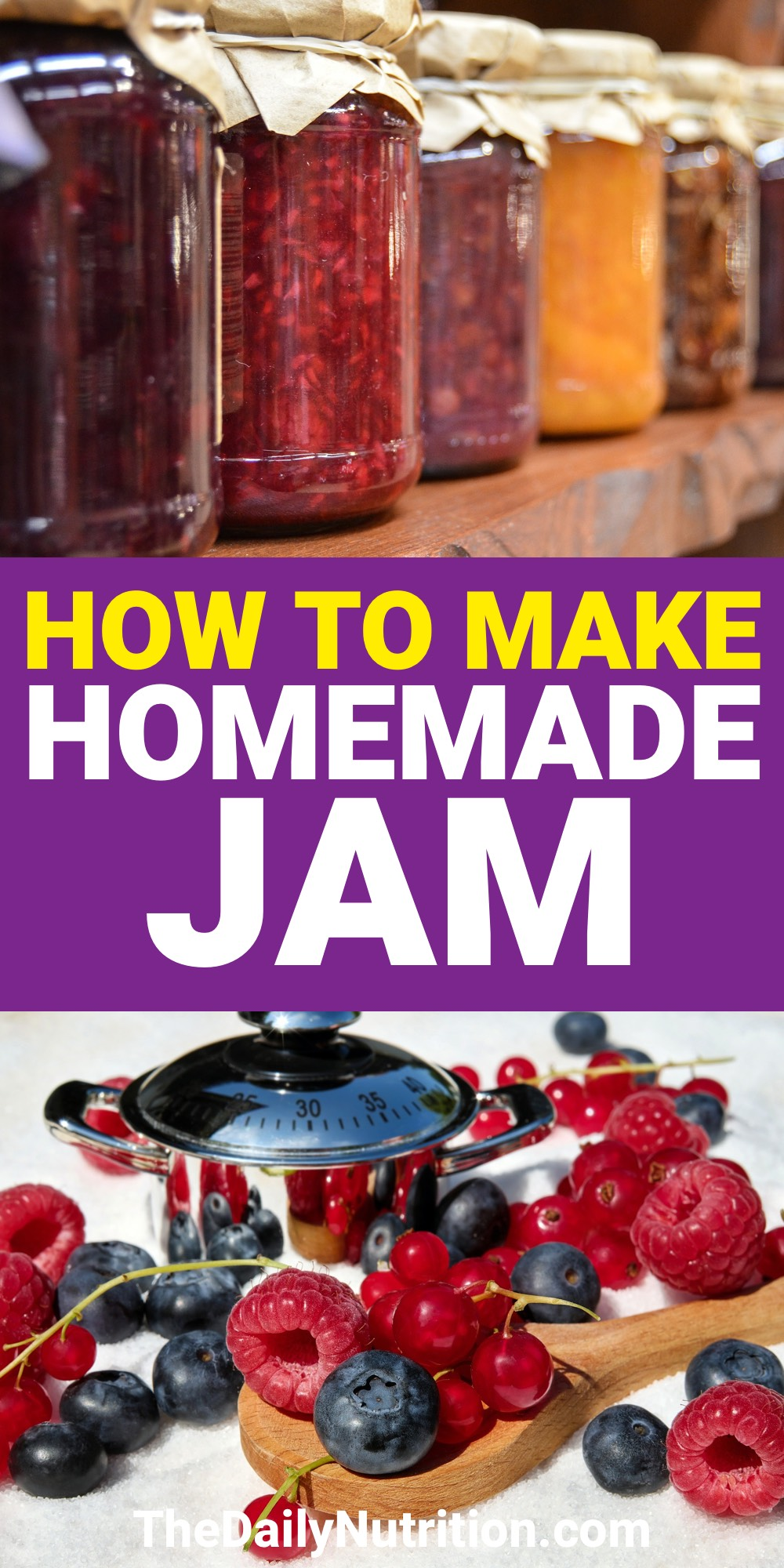 Making homemade jam can be fun and easy. Here is a homemade jam recipe that is fun and easy.