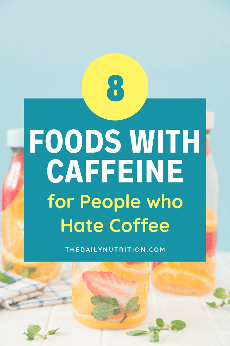 Coffee isn't always an option for people. Here are foods that have caffeine when you don't want coffee.