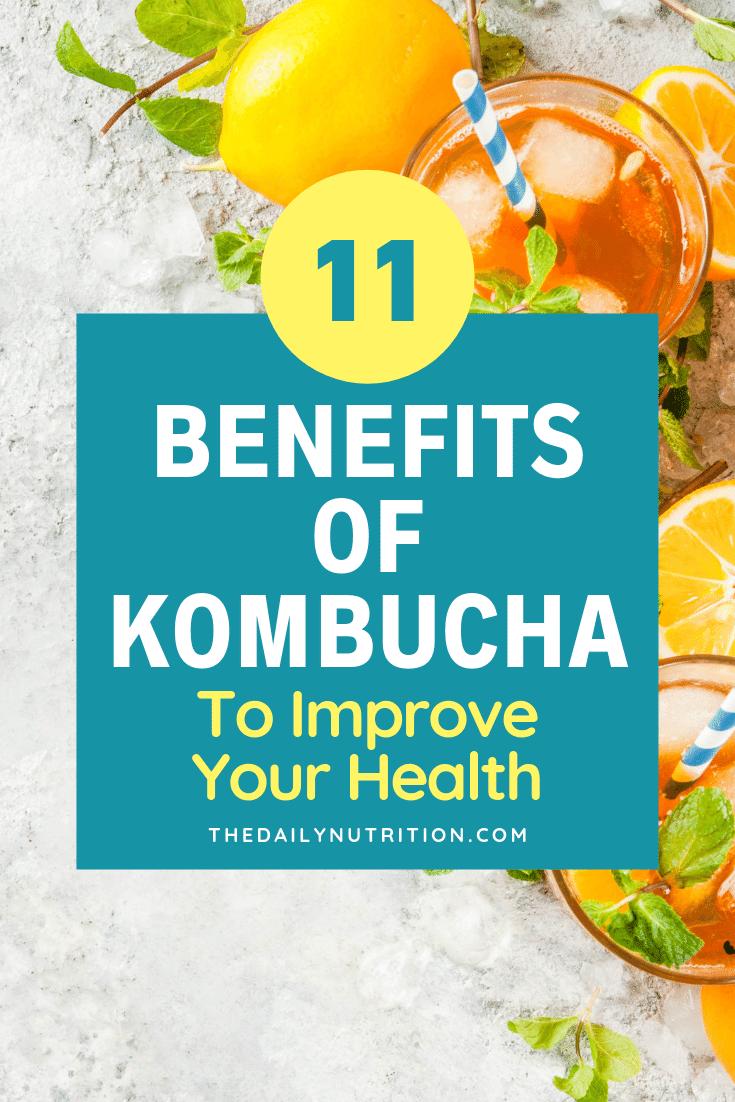 Kombucha tea is a drink that's great for your health. Here are 11 kombucha tea benefits.