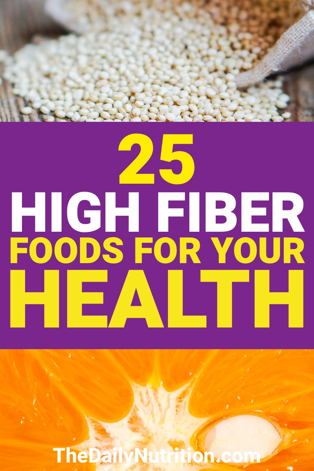 Fiber is an important part of any diet. Here are 25 high fiber foods that you need.
