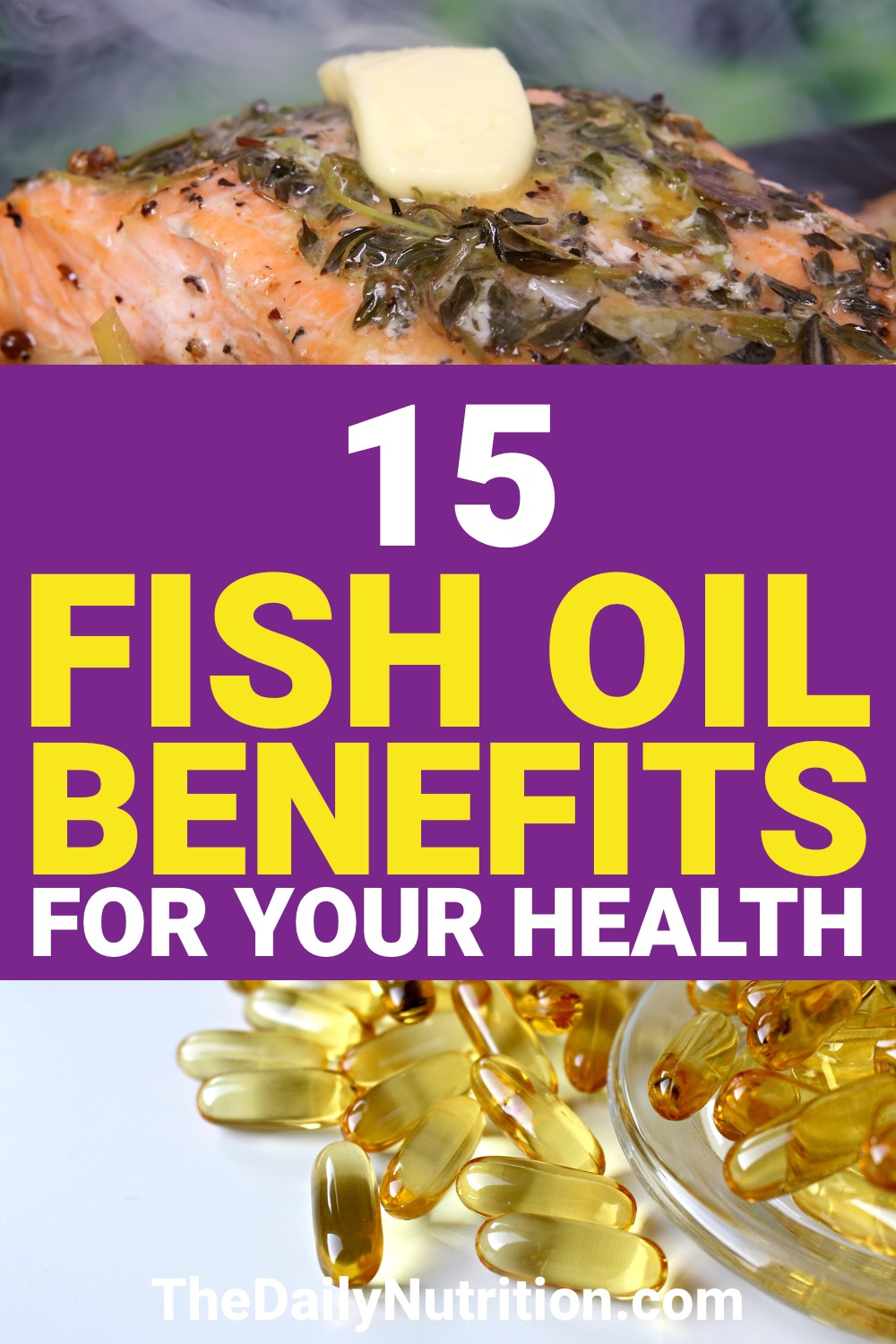 What does fish oil do? Here are 15 fish oil benefits that answer this question.
