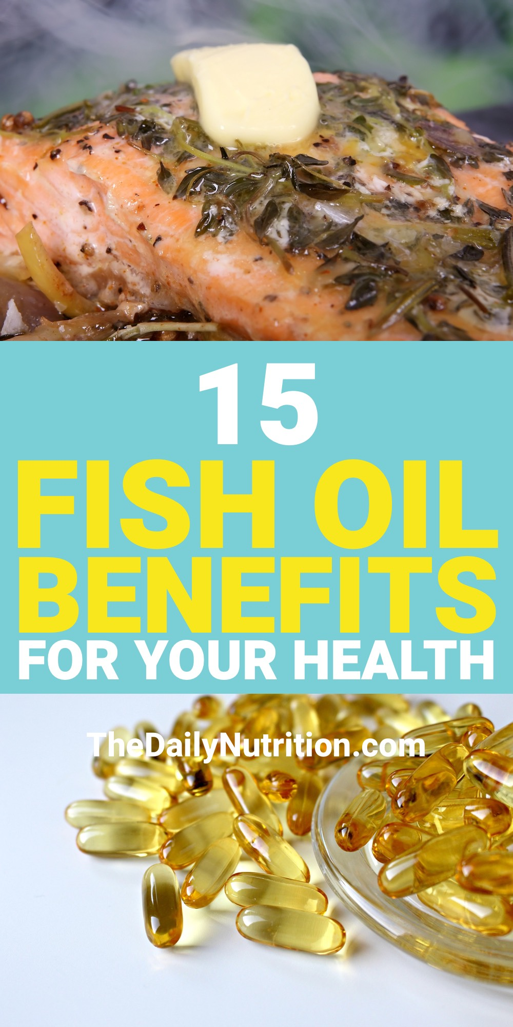 Fish oil pills and other fish oil supplements are going to improve your health. Here are 15 fish oil benefits that you need.