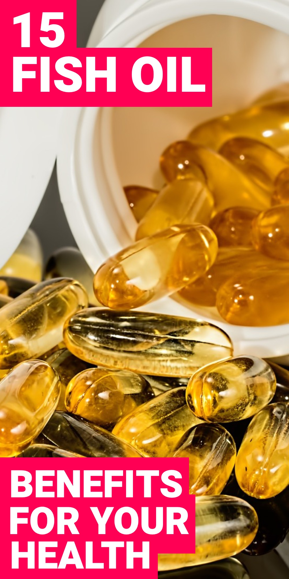 Fish oil benefits are vast. Here are 15 fish oil benefits that you need to know about.