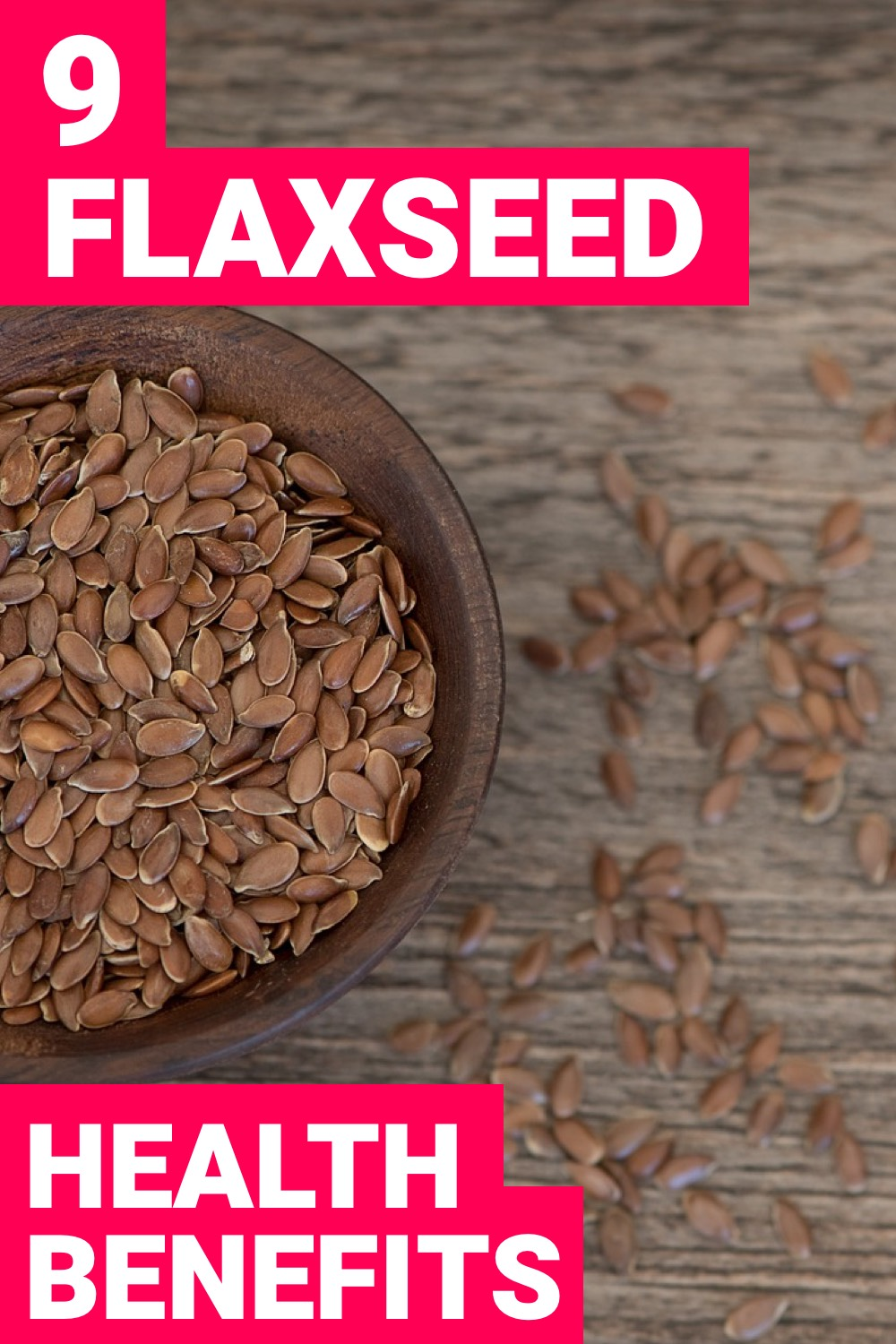 Your health is important. Flaxseed helps with this. Here are 9 health benefits of flaxseed.