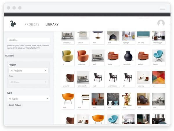 Image of the product library feature.