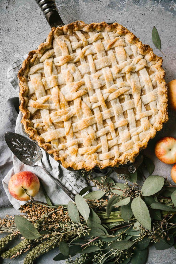 2017 08 Buttermilk Apple Skillet Pie 1 Resize
