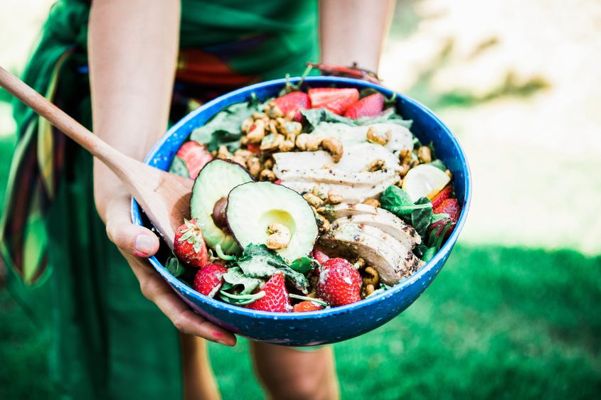 Strawberry, Avocado & Cashew Chicken Salad