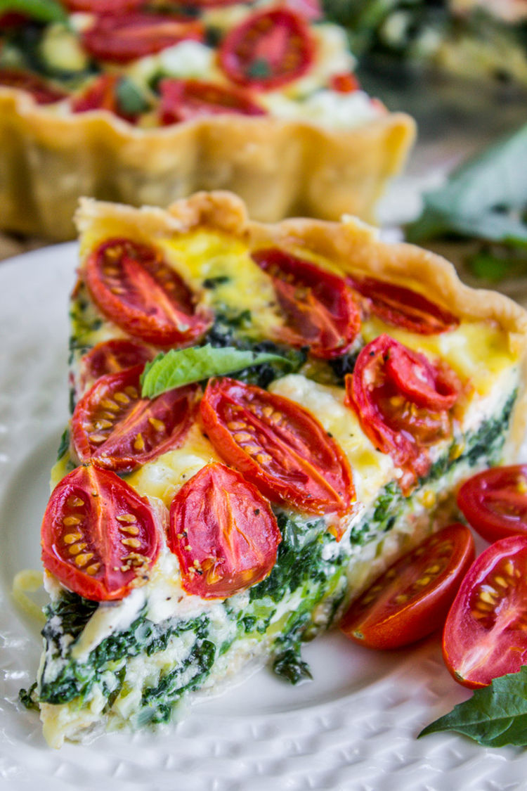 25 Cherry Tomato Leek Spinach Quiche 2