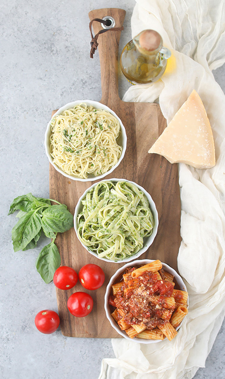 3 Homemade Pasta Sauce Recipes: Red Sauce, Pesto & Aglio e Olio