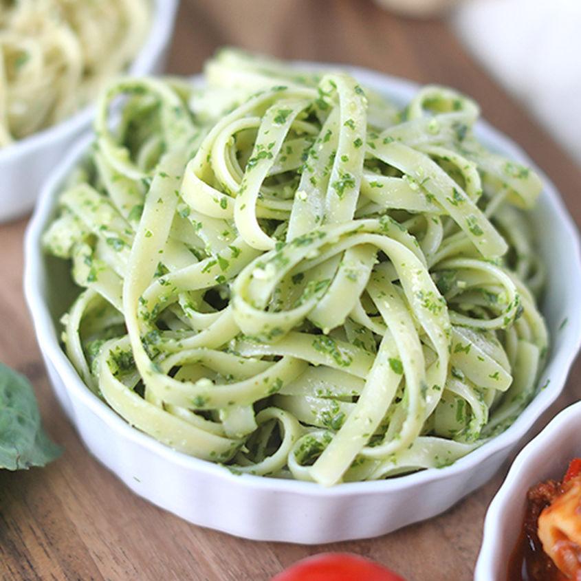 Pesto & fettuccine