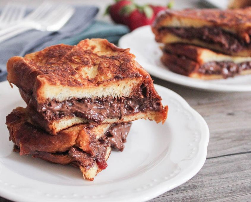3Nutella And Bacon Stuffed French Toast 5