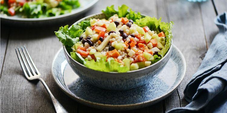 Hearty Couscous Salad with Light Chipotle Vinaigrette