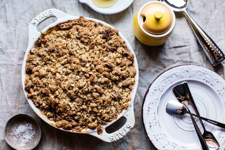 Brown Butter, Salty Manuka Honey, Pecan & Apple Crumble