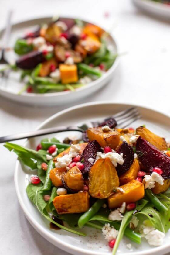 Arugula Salad With Butternut Squash And Roasted Beets9