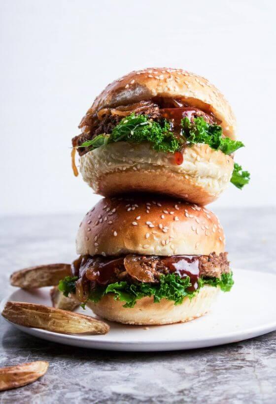 Bbq Brown Rice Portobello Burgers 2 Of 2