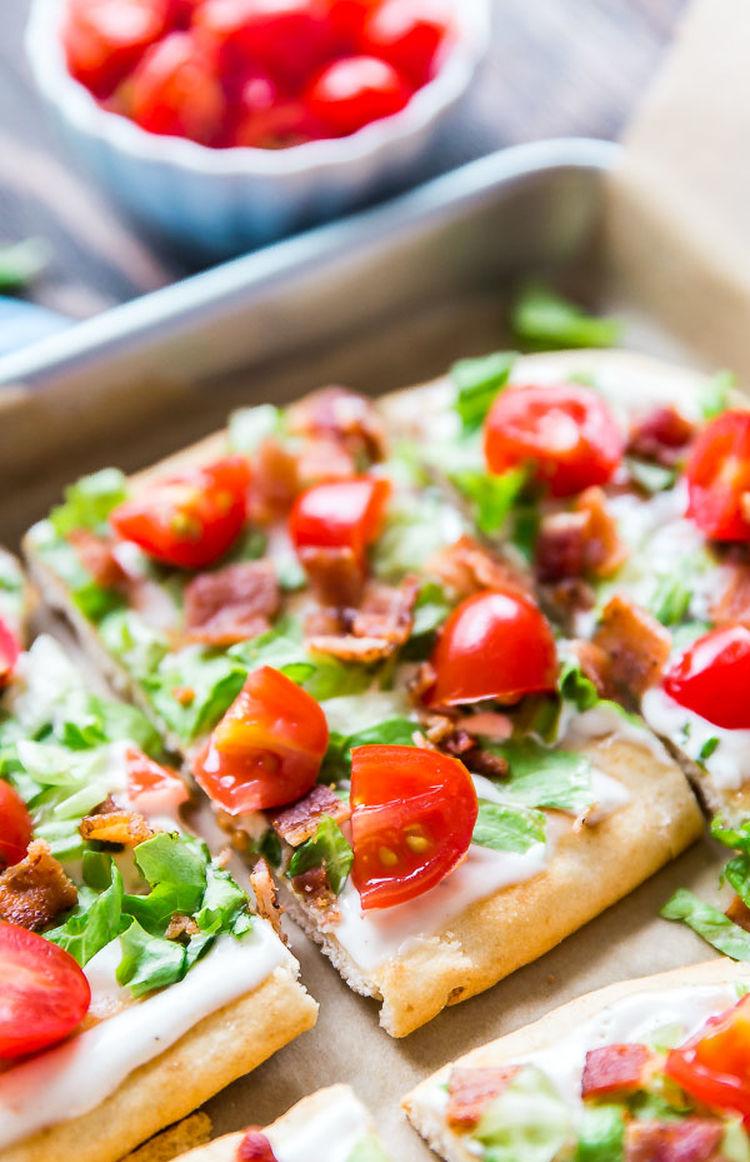 Blt Ranch Flatbread Pizza The Life Jolie 5