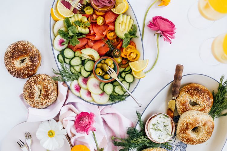 A DIY Bagel and Lox Spread for a Laidback Spring Brunch