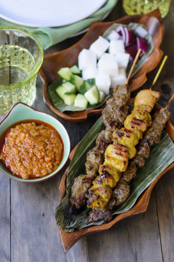 Beef And Chicken Satay