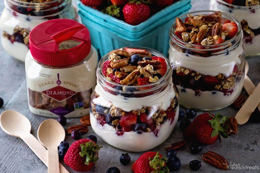 Berry Yogurt Parfaits Landscape
