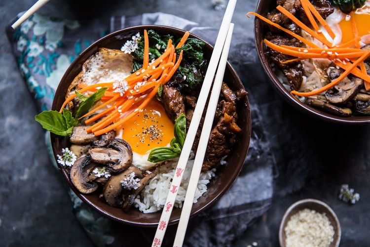 Bibimbap with Steak & Gochujang Recipe
