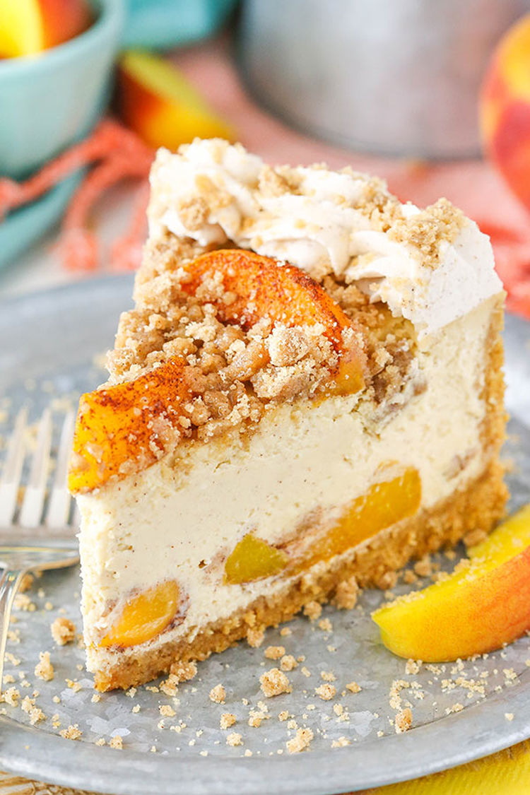 Bourbon Peach Streusel Cheesecake5