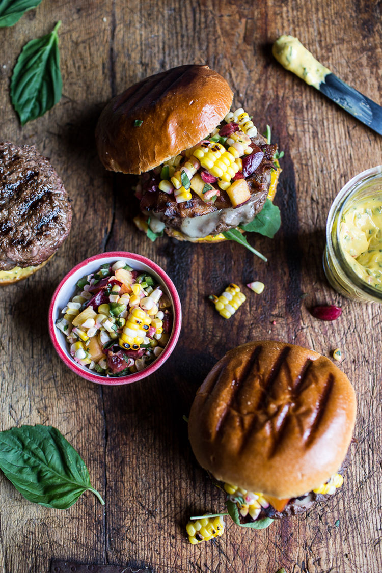 Brie-Stuffed-Burgers-with-Sweet-Chili-Mayo-Corn-Salsa-5