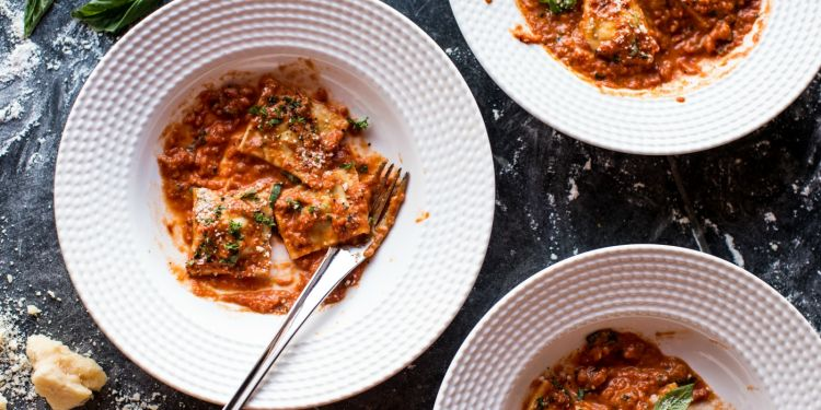 Brown Butter Lobster Ravioli with Tomato Cream Sauce | Tieghan Gerard | The Inspired Home