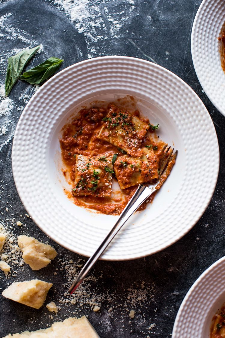 Brown Butter Lobster Ravioli with Tomato Cream Sauce | Half Baked Harvest | The Inspired Home