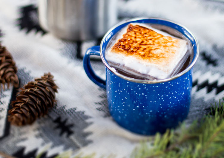 Spiced & Spiked Hot Chocolate Campfire Cocktails