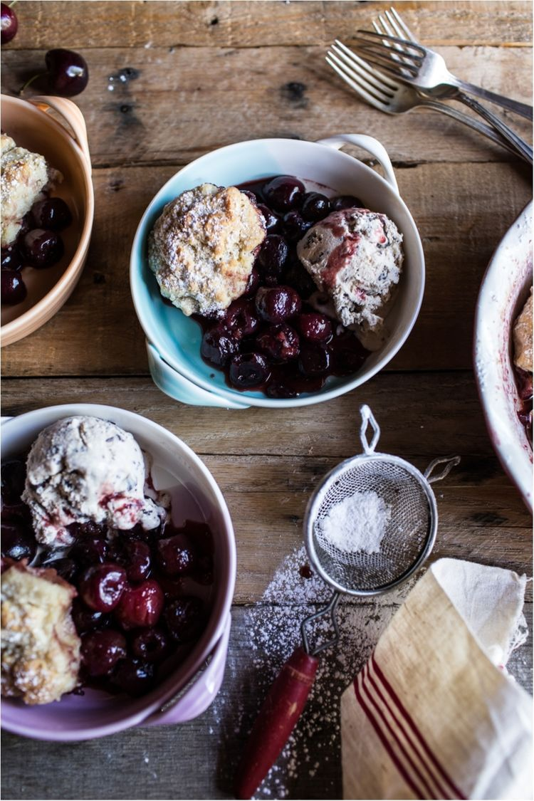 Cherry-Cobbler-with-Honey-Butter-Vanilla-Bean-Biscuits-9