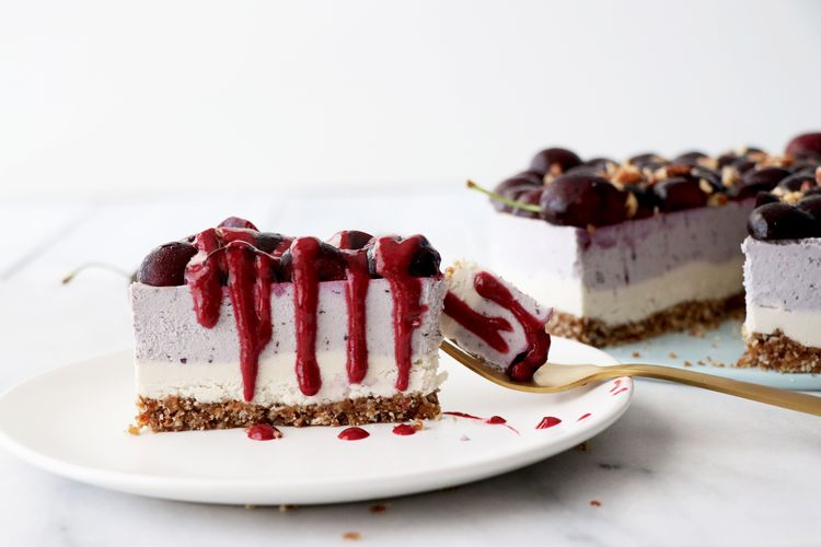 Gluten-Free Vegan Cherry Cheesecake