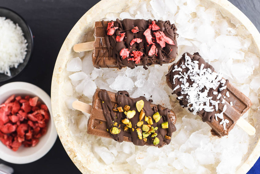 Chocolate Coconut Chia Pudding Pops 10