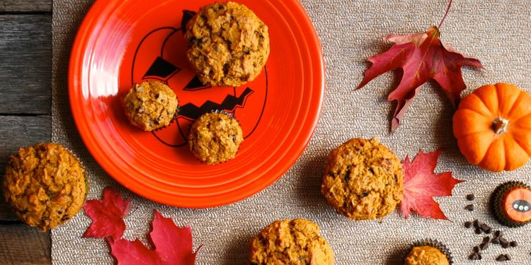 ​Whole Wheat Chocolate Chip Pumpkin Muffins Recipe