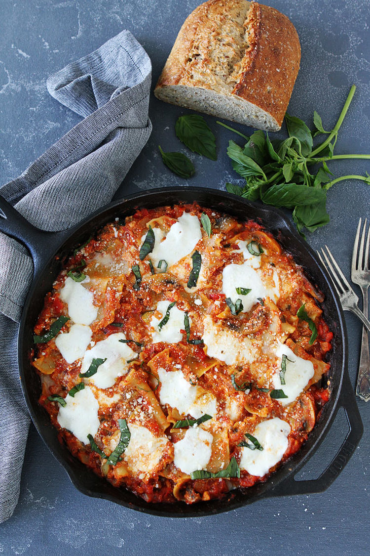 Easy Skillet Vegetable Lasagna 1