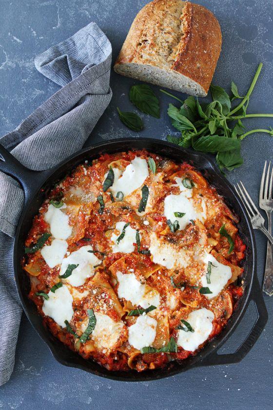 Easy Skillet Vegetable Lasagna 1