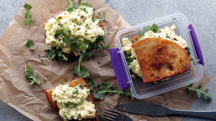 Egg Salad Sandwich on Garlic Toast
