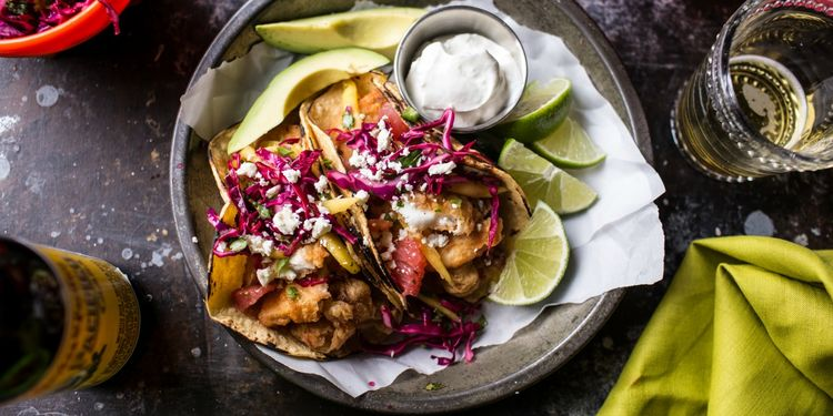 Fish Tacos with Citrus Mango Salsa
