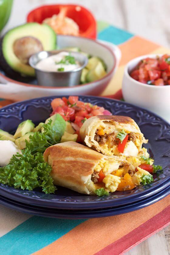 Freezer Breakfast Burritos 2