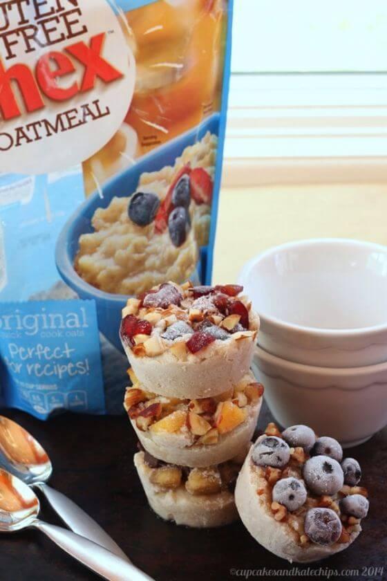 Freezer Fruit Nut Oatmeal Cups Frozen Chex Gluten Free Oatmeal1
